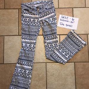 e2df9bffc Ranch Dressin Jeans   Grey White Aztec Print Denim   Poshmark